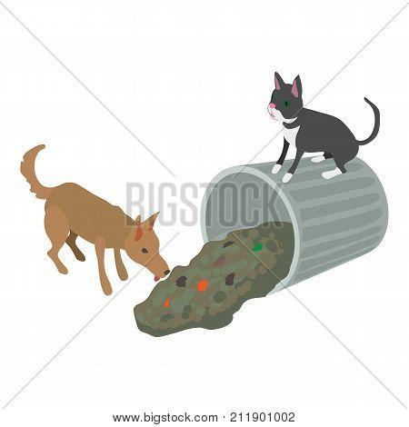 Stray animal icon. Isometric illustration of stray animal vector icon for web