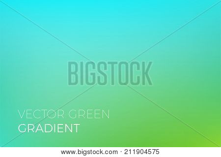 Green Color Gradient Background Vector Backdrop Design Template Eco Nature Ecology