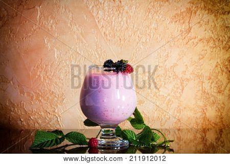 Berry smoothie healthy juicy vitamin drink diet or vegan food Fresh vitamins homemade refreshing fruit beverage
