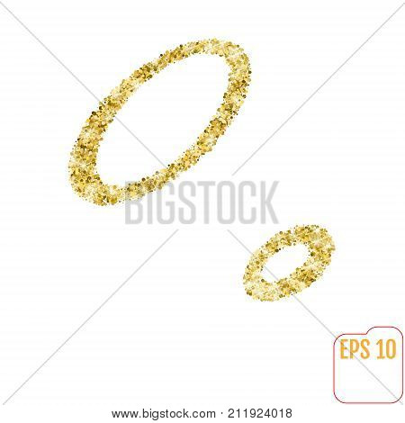 Gold Rush. Gold Alphabetic Letter O. Vector Gold Alphabet. Font