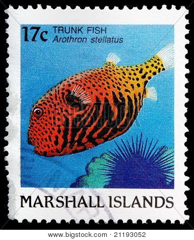 A 17-cent Stamp Printed In The Republic Of The Marshall Islands