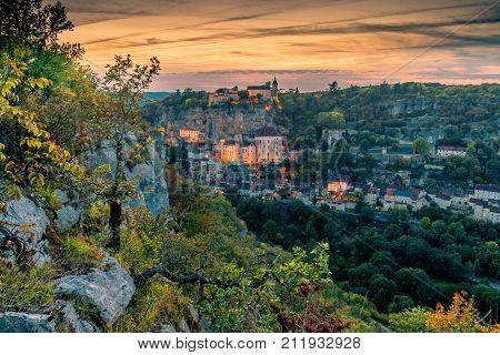 Rocamadour At Sunset