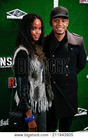 NEW YORK-FEB 1: Chef Roble (R) and Ayan Elmi attend the Roc Nation Sports Celebration at the 40/40 Club on February 1, 2014 in New York City.