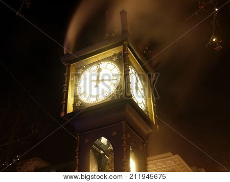 steam clock in gastown Vancouver British Columbia