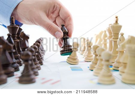 Chess Financial Business Strategy Concept.