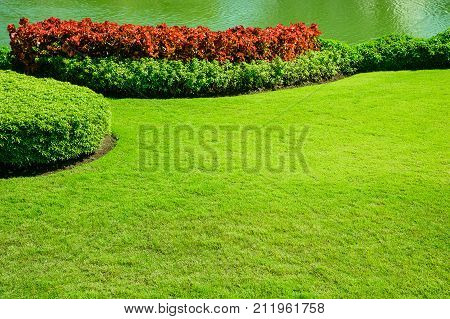 Landscaped Formal ,front yard with garden design