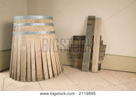 Oak Wine Barrel Parts