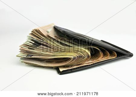 Photo banknote is used in business design related to finance stocktaking investments and savings. On a white background