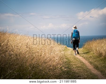 a man walking on Camino de Santiago