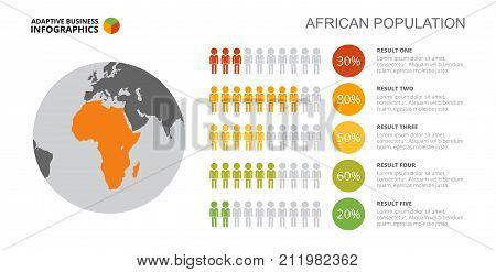 Comparison infographics. Percentage diagram, map chart, layout. Creative concept for infographics, presentation. Can be used for topics like statistics, population, society.