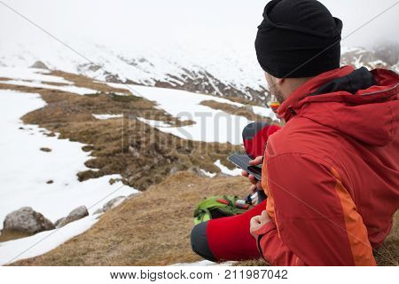 Man On Top Of Moutains