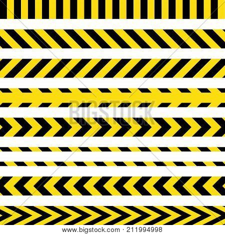 Yellow And Black Danger Ribbons