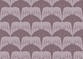 Seamless Tessellation Pattern of Manta Ray and Bird Vector Background poster