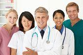 Portrait of medical professionals poster