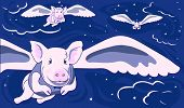 When Pigs Fly is original artwork with a lot to say! poster