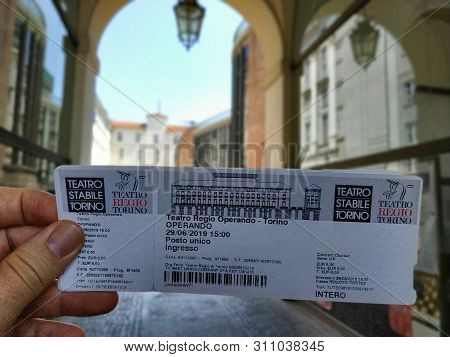 The Entrance Ticket To The Teatro Regio In Turin