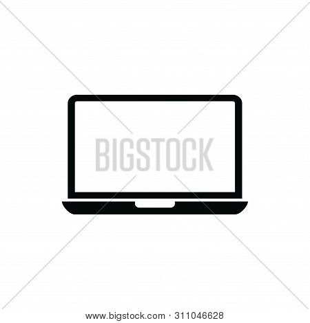 Laptop Computer Screen Icon Isolated On White Background. Laptop Computer Screen Icon Simple Sign. L