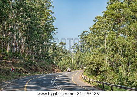 Badplaas, South Africa - May 2, 2019: A Road Landscape On The Bothasnek Pass On Road R38 Between Bad
