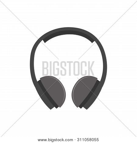 Hearing Protection Industrial Ear Muffs Or Headphones Vector Isolated On White.