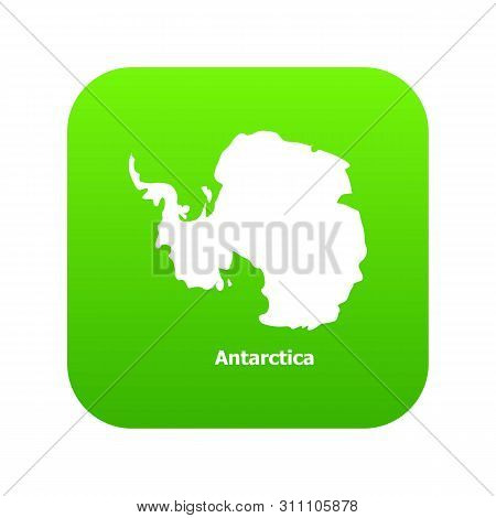 Antarctica Map Icon. Simple Illustration Of Antarctica Map Icon For Web