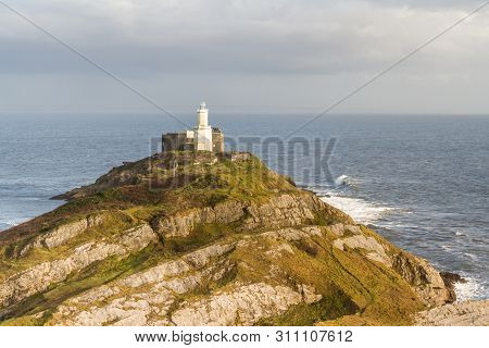 The Mumbles And Lighthouse From Clifftop