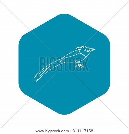 Asian Paradise Flycatcher Icon. Outline Illustration Of Asian Paradise Flycatcher Icon For Web