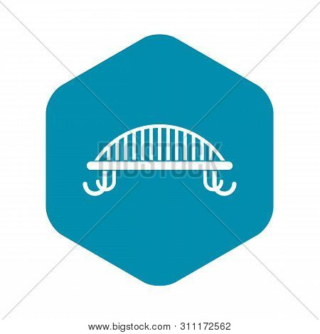 Bench With Backrest Icon In Simple Style. Seat Symbol Isolated Illustration