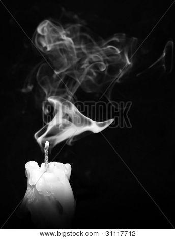 Candle and smoke