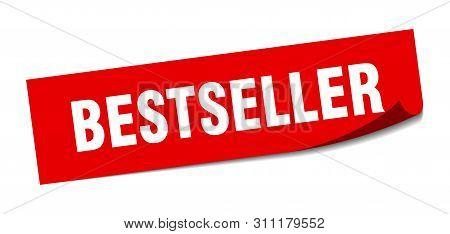 Bestseller Sticker. Bestseller Square Isolated Sign. Bestseller