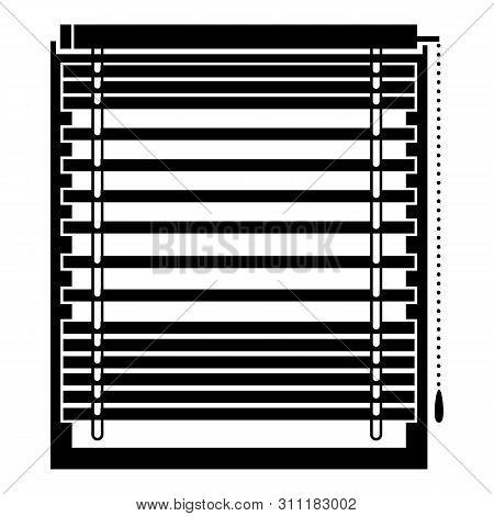 Horizontal Jalousie Icon. Simple Illustration Of Horizontal Jalousie Icon For Web Design Isolated On