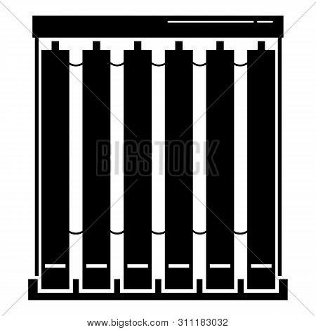 Window Textile Jalousie Icon. Simple Illustration Of Window Textile Jalousie Icon For Web Design Iso