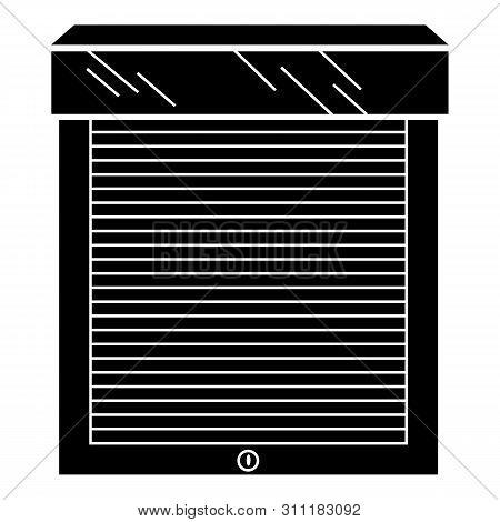 Outdoor Metal Jalousie Icon. Simple Illustration Of Outdoor Metal Jalousie Icon For Web Design Isola
