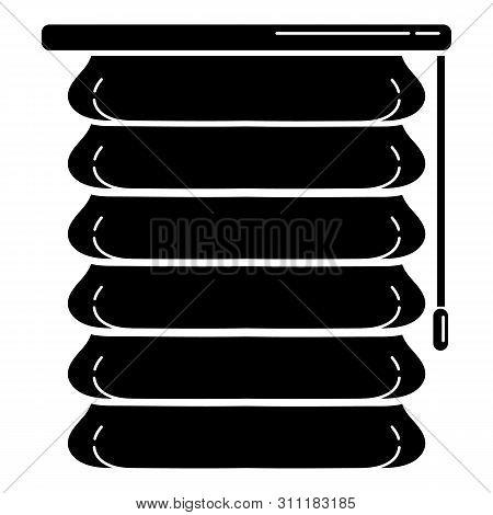 Modern Jalousie Icon. Simple Illustration Of Modern Jalousie Icon For Web Design Isolated On White B