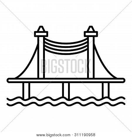 Autobahn Bridge Icon. Outline Autobahn Bridge Icon For Web Design Isolated On White Background