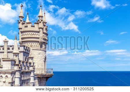 Castle Of Swallow's Nest On The Black Sea Coast, Crimea, Russia