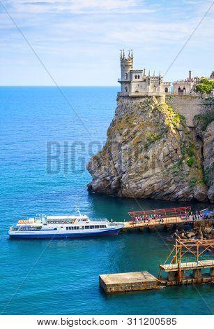 Swallow's Nest Castle On A Rock At The Black Sea, Crimea, Russia