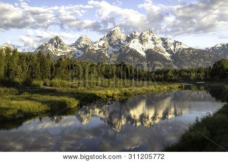 Grand Tetons In Schwabacher Landing