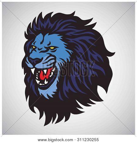 Lion Roaring Mascot Vector Esport Logo Design poster