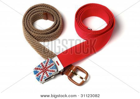 Two Colorful Belts.