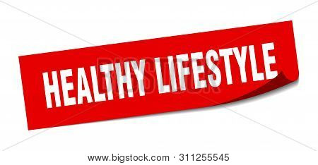 Healthy Lifestyle Sticker. Healthy Lifestyle Square Isolated Sign. Healthy Lifestyle
