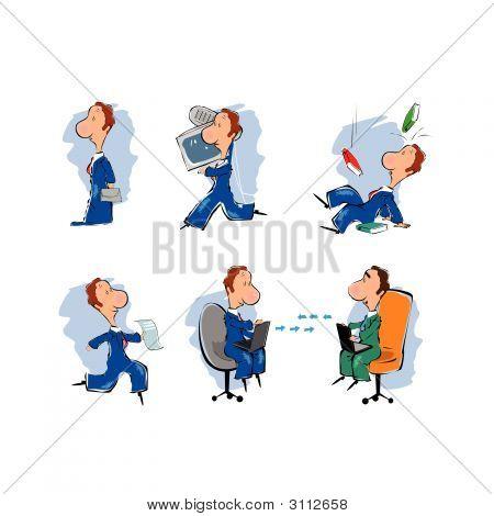 Caricature Businessmen