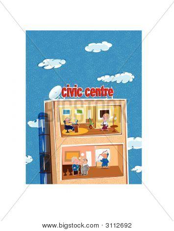 Cartoon Civic Center
