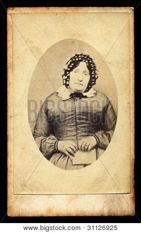 Foto do antigo luto vitoriano Lady