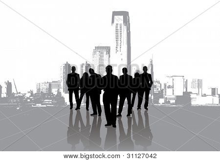 business people with urban background