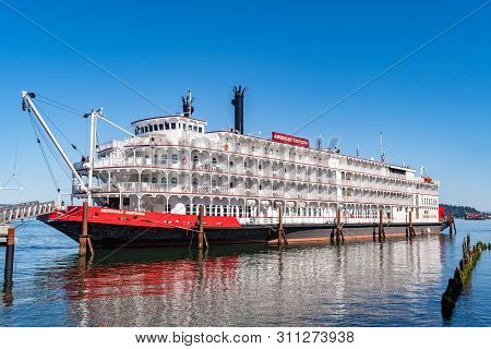 Astoria, Oregon - October 03 2017: The American Empress, Formerly Empress Of The North, A 360 Foot D