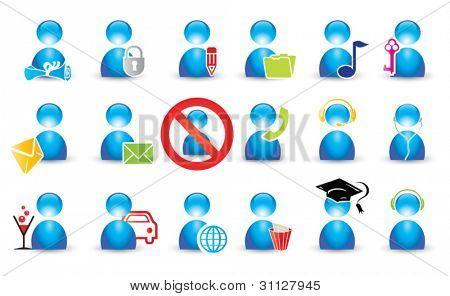 menschliche Icon-set