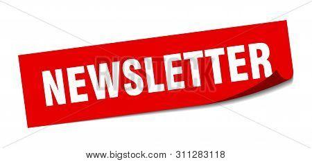 Newsletter Sticker. Newsletter Square Isolated Sign. Newsletter