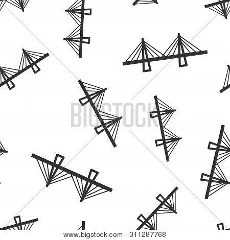 Bridge Sign Icon Seamless Pattern Background. Drawbridge Vector Illustration On White Isolated Backg