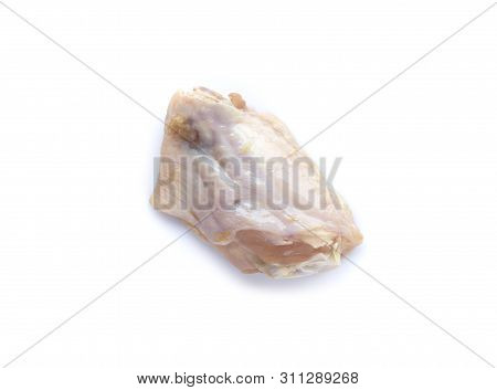 The Picture Of Raw Chicken Wings Isolated On White Background