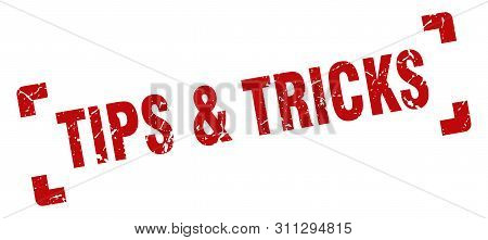 Tips And Tricks Stamp. Tips And Tricks Square Grunge Sign. Tips And Tricks